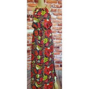 EUC Laundry Small Multi Color Side Slit Maxi Dress